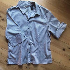 New York & Co XL gray Madison Dress shirt